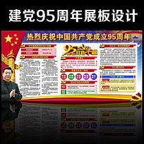2016七一建党节95周年党建展板