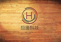 红色中国风互通科技 logo