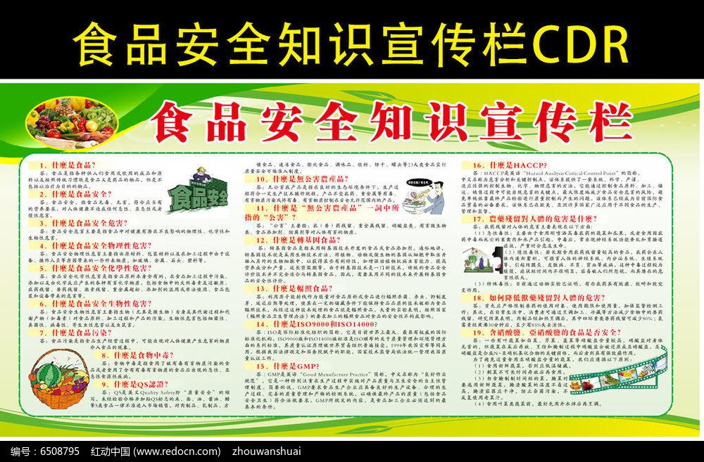 食品安全知识宣传栏PSD素材下载_社区宣传展板设计图片