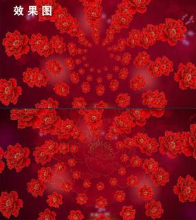 唯美富贵红牡丹花开视频背景