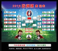 2016欧洲杯赛程表海报