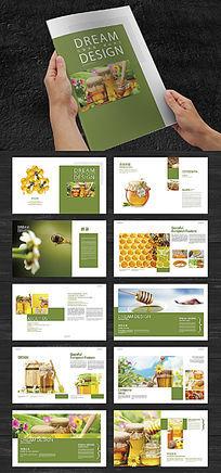 绿色食品蜂蜜画册