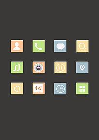 手机立体简约图标设计 PSD