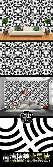 黑白圆点艺术视觉图案背景墙