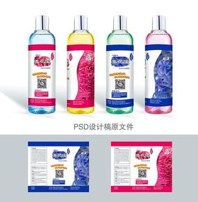 花草营养液瓶贴包装设计
