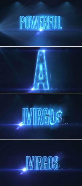 立体英文字母标题展示模板