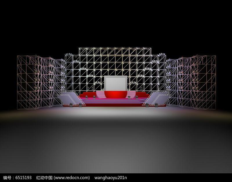 t台舞台设计效果图3dmax素材下载 编号6515193 红动网图片