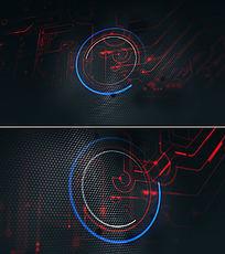 高科技片头logo演绎ae模板