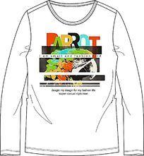 鹦鹉和字母组合的T恤印花 CDR