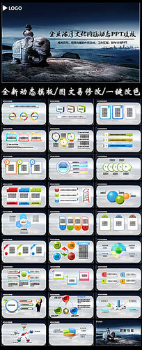 企业文化宣传产品展示PPT模板