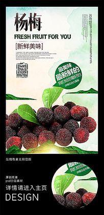 夏季清新杨梅水果海报广告