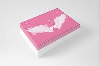 展开白色翅膀包装盒