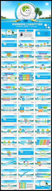 夏日微商微信营销工作报告PPT模板