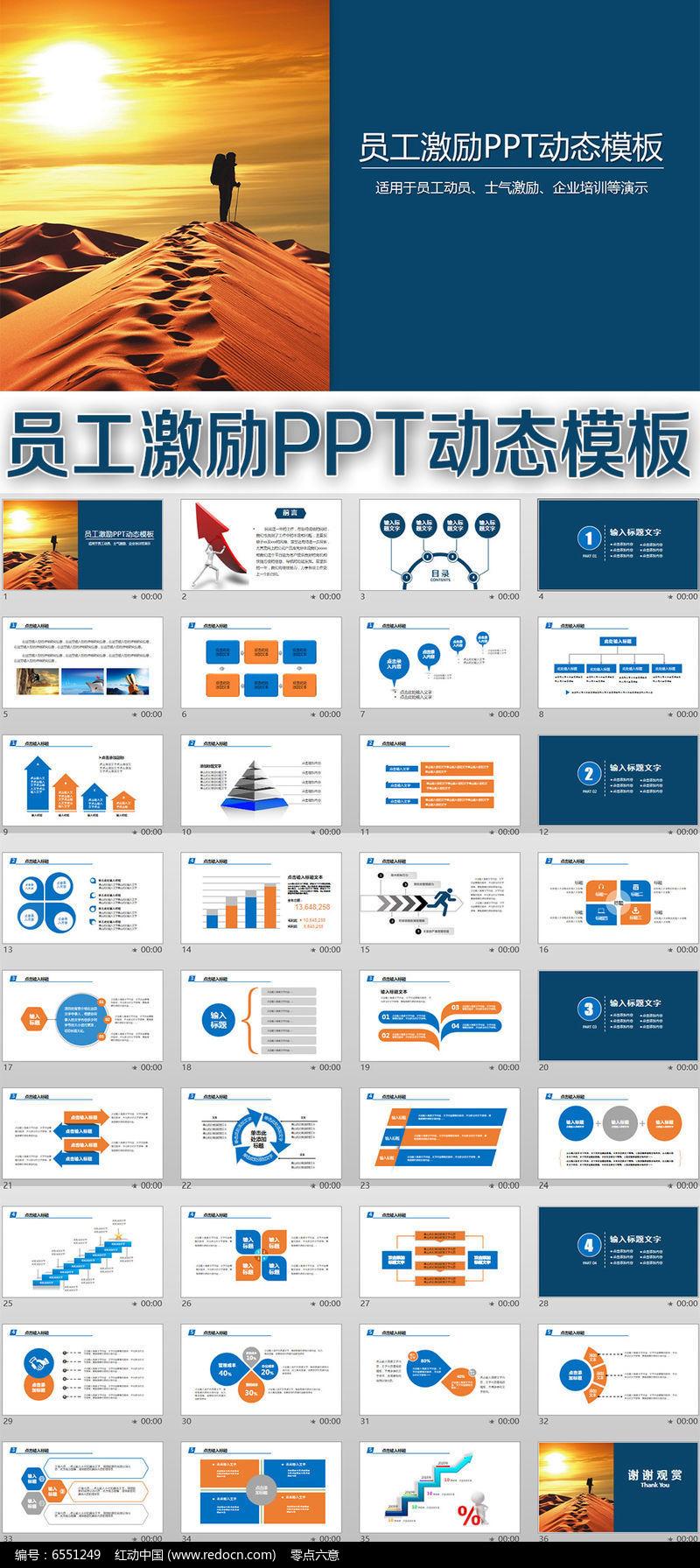 员工激励PPT动态模板图片