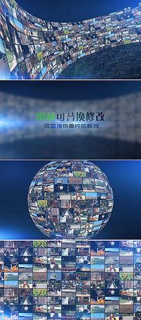 震撼大气企业员工照片墙公司logo标志展示模板