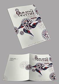 白色大气创意抽象企业封面设计