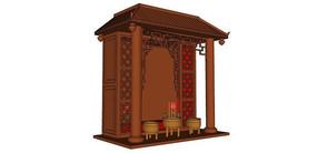神台祭奠香炉SU模型
