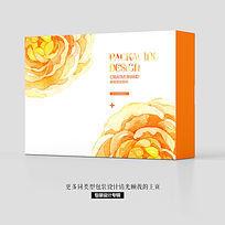 水墨现代花卉床上用品唯美包装设计