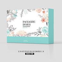 小资品牌国外花茶花叶包装盒设计