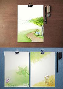 自然清新手绘风格背景纸
