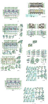 CAD别墅住宅施工图
