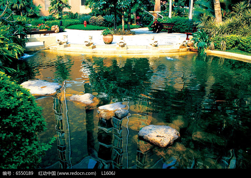 跌水水池景观