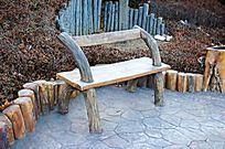 仿木靠背座椅 JPG
