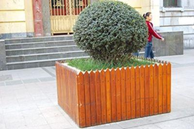 方形木制树池jpg素材下载_花坛树池设计图片