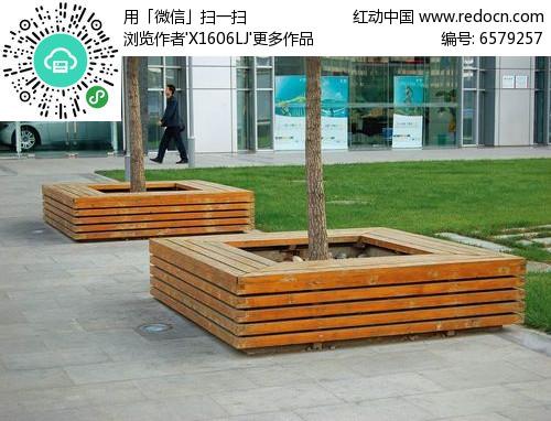 方形树池花坛座椅