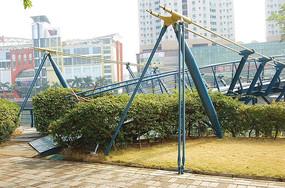 金属桥雕塑小品
