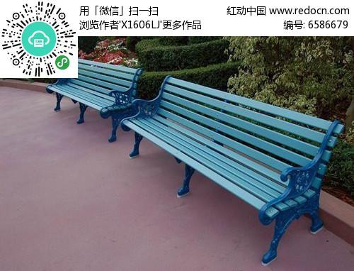 蓝色欧式休闲座椅