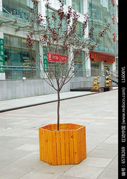 六边形木制树池jpg素材下载_花坛树池设计图片