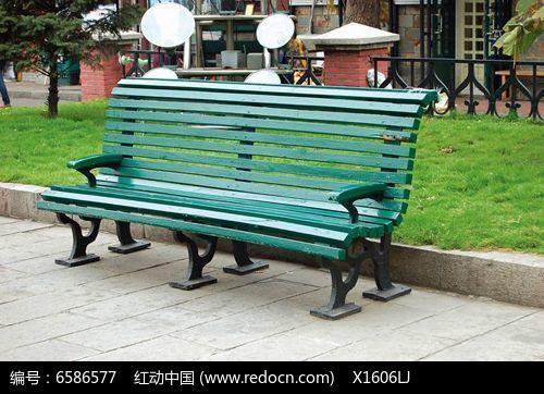 木质绿色欧式休闲座椅