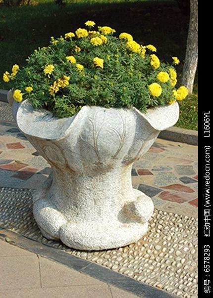 欧式石雕花钵图片