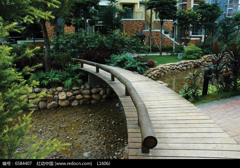 欧式小区自然溪水景观意向图