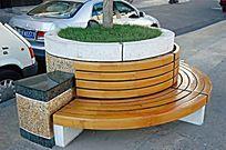 树池花坛圆形座椅 JPG