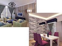 小户型现代风格室内装修模型