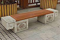 中式复古遮阳座椅图片