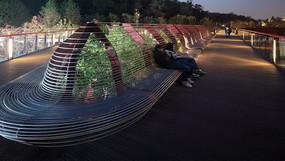 创意座椅夜景