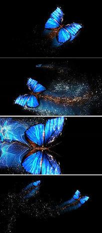 飞舞的粒子蝴蝶视频背景素材