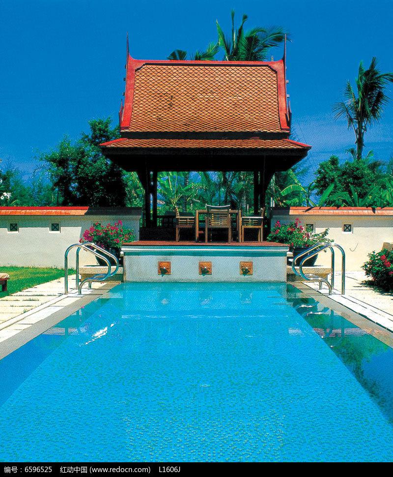 敬老院游泳池效果图图片