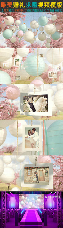 浪漫唯美婚礼求婚视频模版