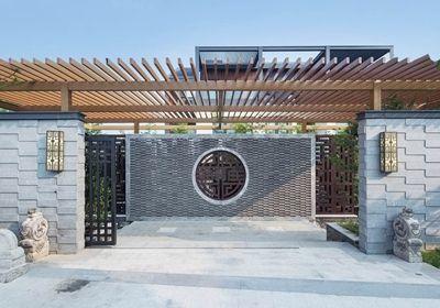 中式大门入口图片
