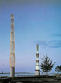 滨江广场景观灯柱