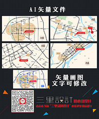 城市项目位置地图设计 AI