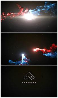 大气可换色粒子追逐碰撞logo展示ae模板