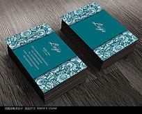 古典花纹欧式名片设计