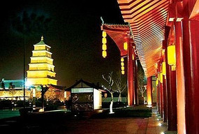 古寺庙旁地埋灯