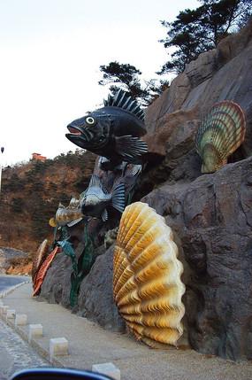 海洋动物雕塑小品