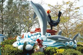 海洋馆动物雕塑小品